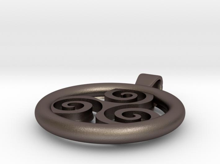 Big Triskell Positve Hole Pendant 3d printed