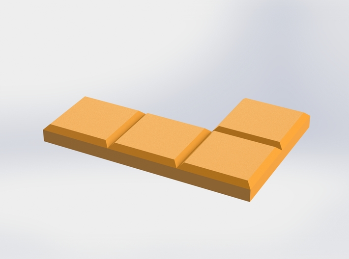 Orange L-Shaped Coaster 3d printed