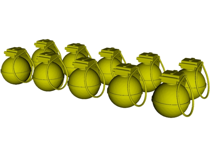 1/16 scale V-40 mini fragmentation grenades x 10 3d printed