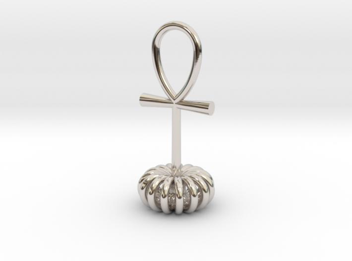 Torus energy pendant 3d printed