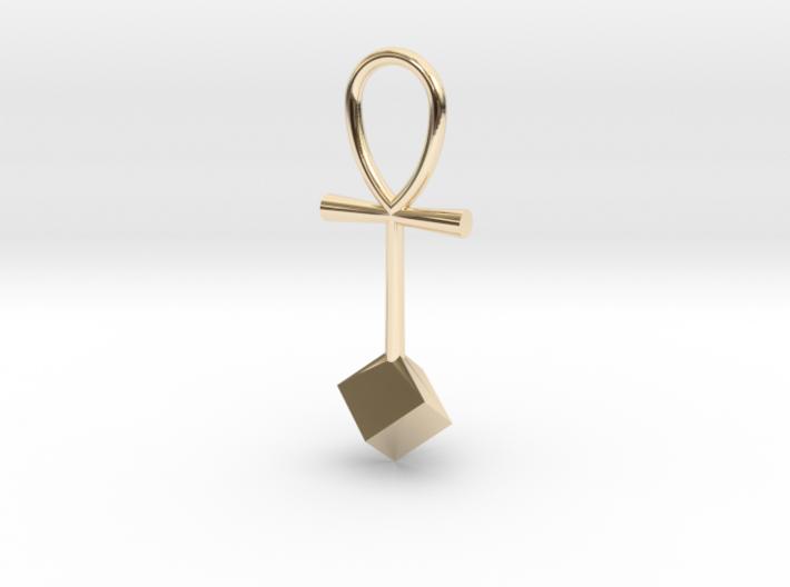 Cube energy pendant 3d printed