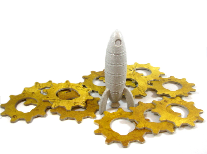 Rocket Ship 9 - Mars Needs Mechanics Start Token 3d printed The Rocket Ship requires many gears and cogs to fly