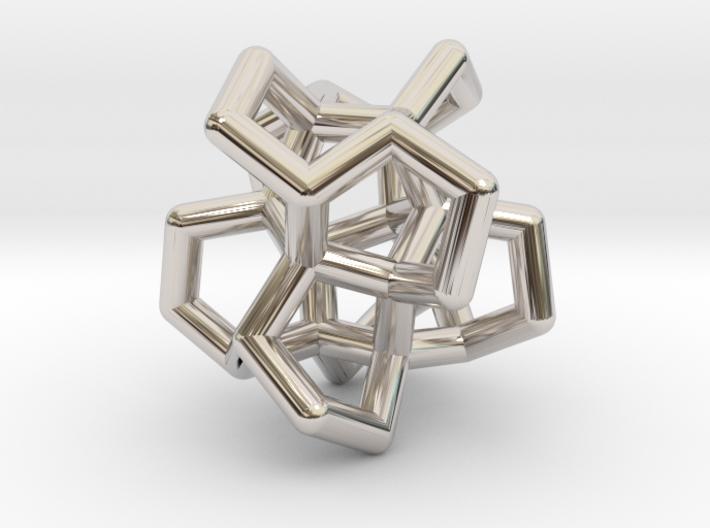 Flower Of Twist Pendant 3d printed