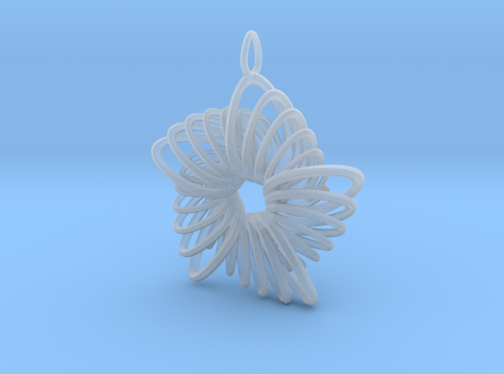 5 Point Nautilus Rings - 4cm 3d printed