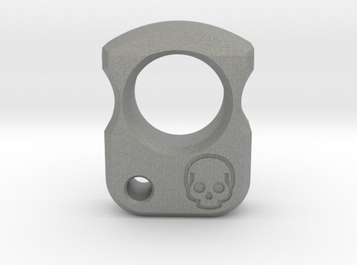 EDC EVERYDAY CARRY BRASS KNUCKLE ZIPPER PULL PEND 3d printed