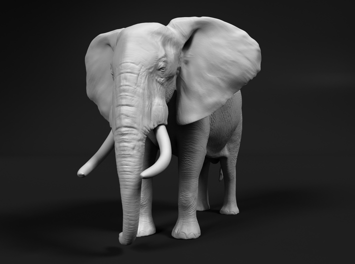 African Bush Elephant 1:64 Standing Male 3d printed