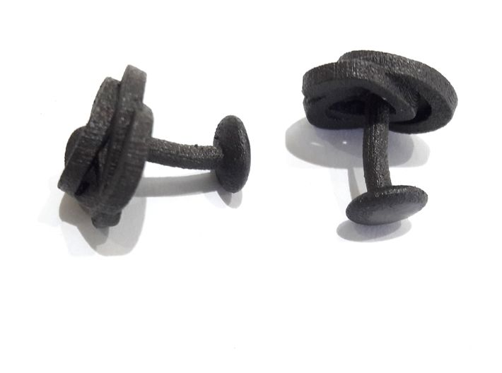 Air and water Cufflinks  3d printed