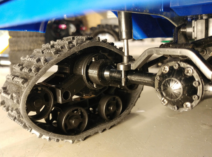 WPL Rear Track Adaptor - Fixed version 3d printed test print prior to upload