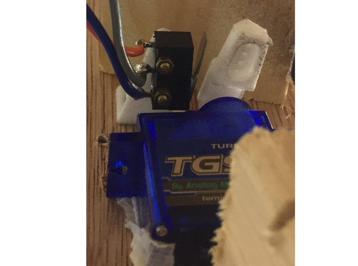 Micro Switch Mount for Turnouts 3d printed Switch Open