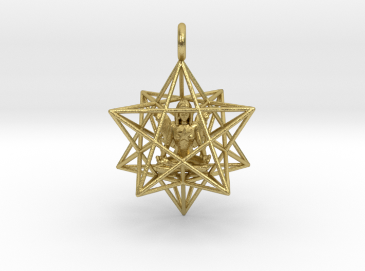 Angelstar Stellated Dodecahedron 30mm 3d printed