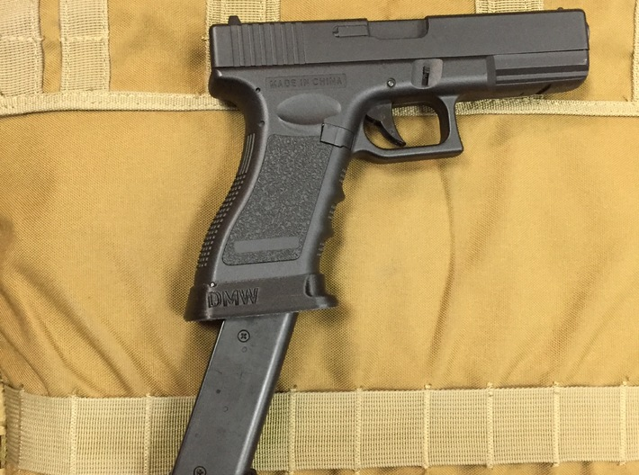 Glock AEP airsoft pistol magwell 3d printed