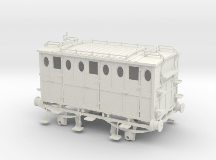 L&BR 2nd class carriage 1837 G1 3d printed