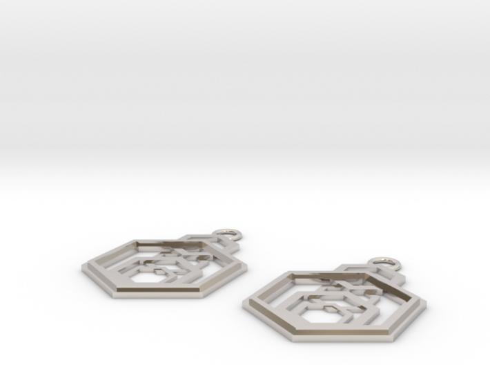Geometrical earrings no.9 3d printed