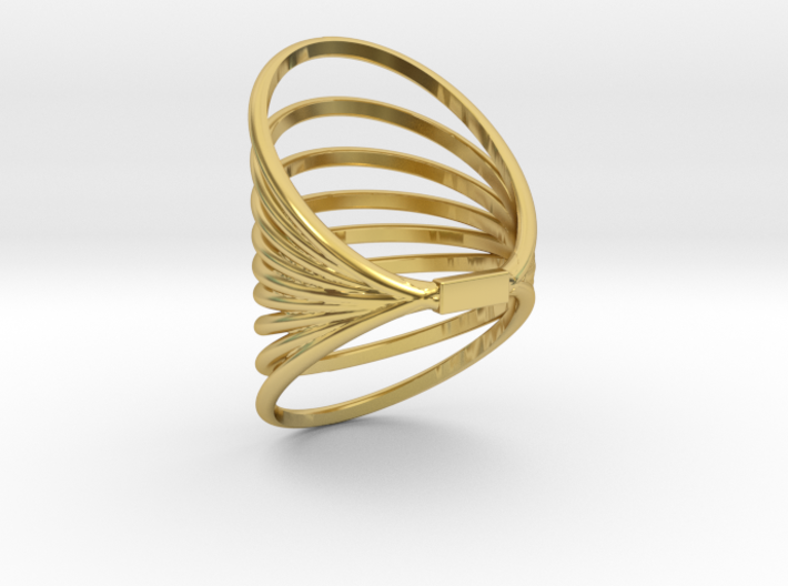 RING MAGNETIC FIELD SIZE 6 3d printed