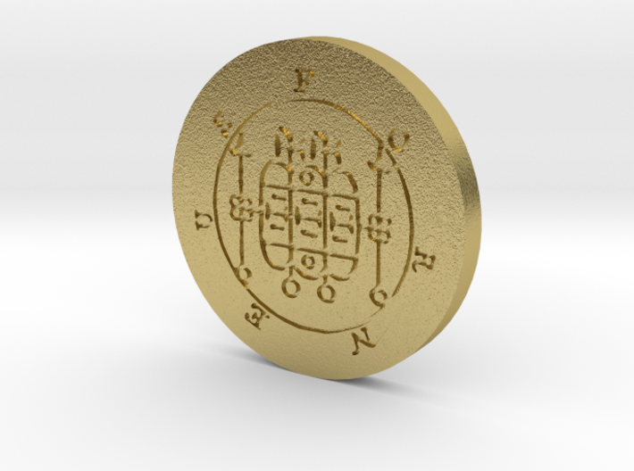 Forneus Coin 3d printed