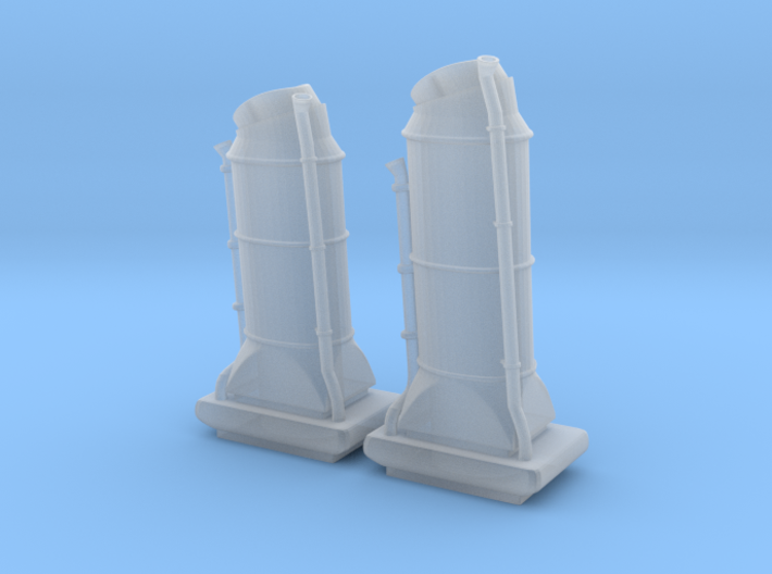 1/144 USN Chimney SET 3d printed