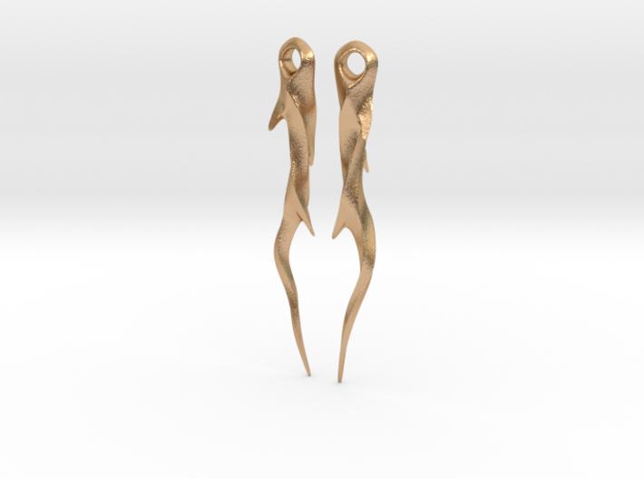 Medieval Spike Earrings - Twisted 3d printed