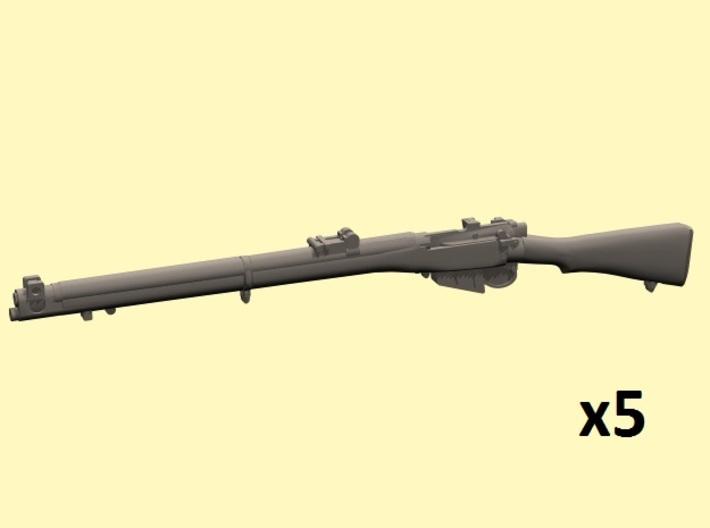 1/25 scale S.M.L.E. Lee-Enfield rifles 3d printed
