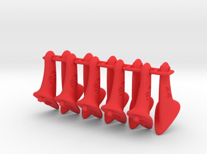 10 pcs. 24mm F2D Control Horn - v2.1 3d printed