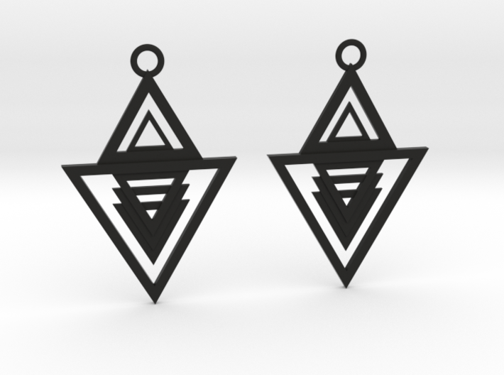 Geometrical earrings no.13 3d printed