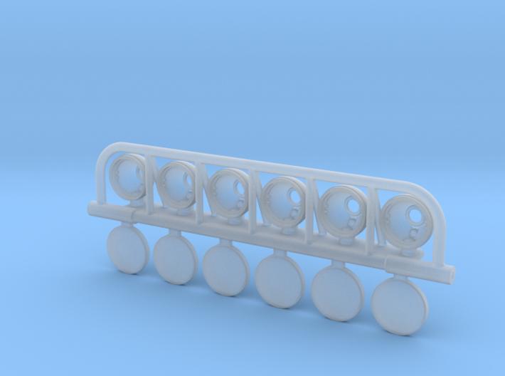 BR10015 6 Spot light bar 3d printed