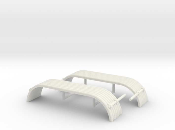 1/34th Tandem axle 'corrugated' style fender 3d printed