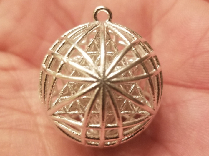 """Tantric Star of Awesomeness Pendant 1"""" 3d printed"""