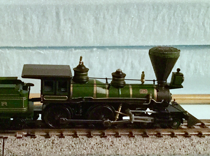 N Scale Locomotive 'Bonnet' Stack (Single) 3d printed An accurate stack makes all the difference on this model of the B&O William Mason.