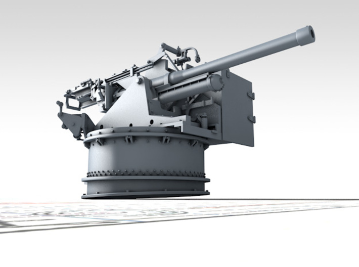 1/48 6-pdr (57mm)/7cwt QF MKIIA Aft (MTB) 3d printed 3D render showing product detail