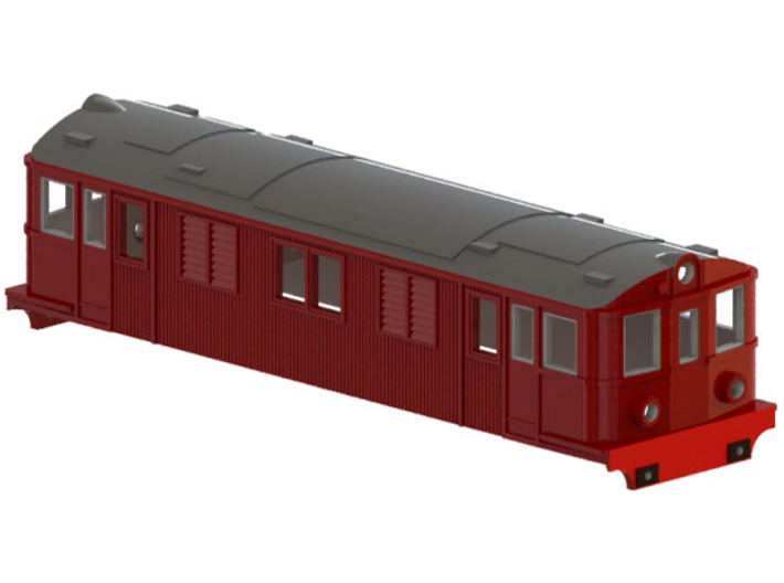 Swedish SJ electric locomotive type D - H0-scale 3d printed CAD-model