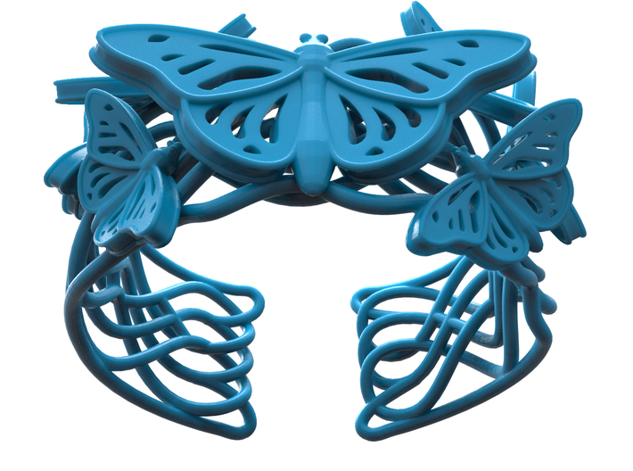 Butterflies in Love_Bracelet_M 3d printed