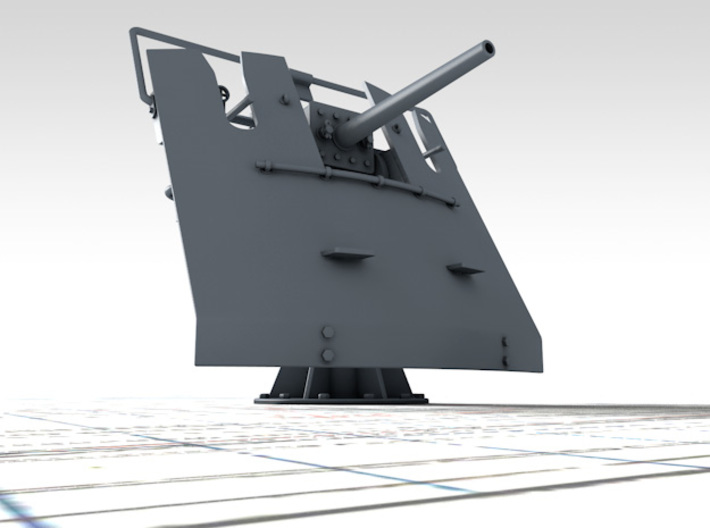 """1/72 3-pdr 1.85""""/40 (47 mm) MKV Mounting 3d printed 3D render showing product detail"""