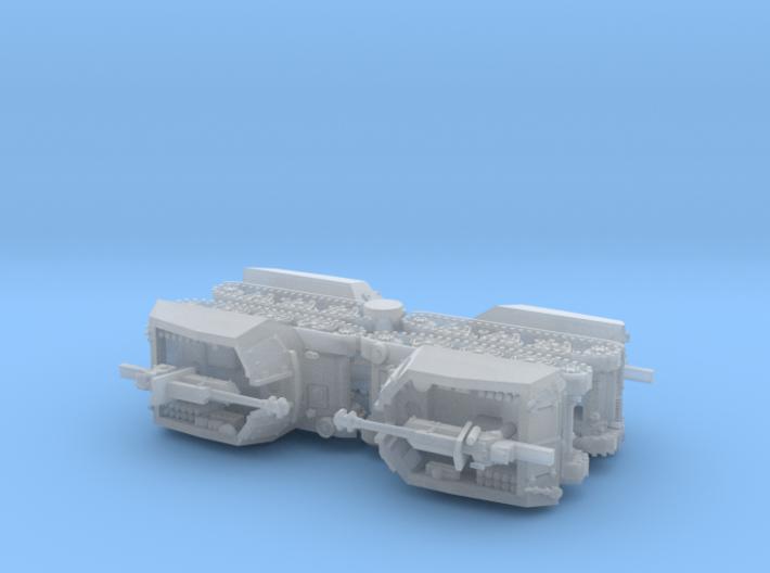 10,5cm leFH 18 (SF) auf Geschützwagen H39(f) 1/285 3d printed