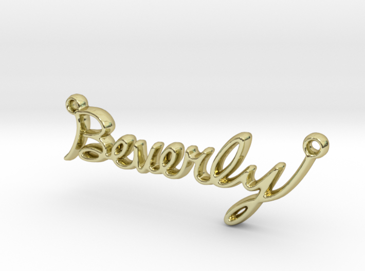 Beverly Script First Name Pendant 3d printed