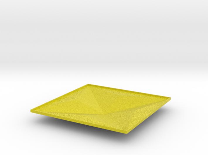 3d tile_2_B_yellow 3d printed