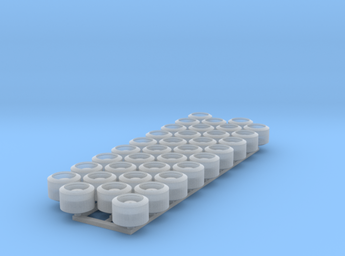 (36) WIDE TRACKED TRACTOR ROLLERS 3d printed