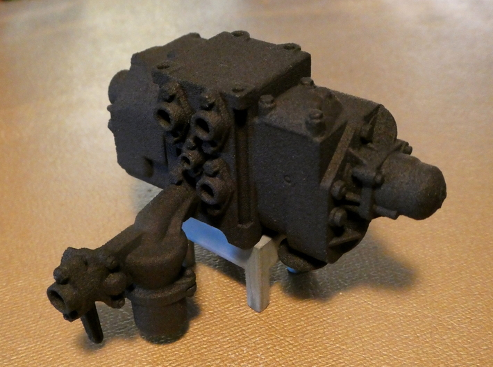 1/8 Scale AB Valve 3d printed The air filter, like the rest of the valve, is modeled to real-world dimensions.