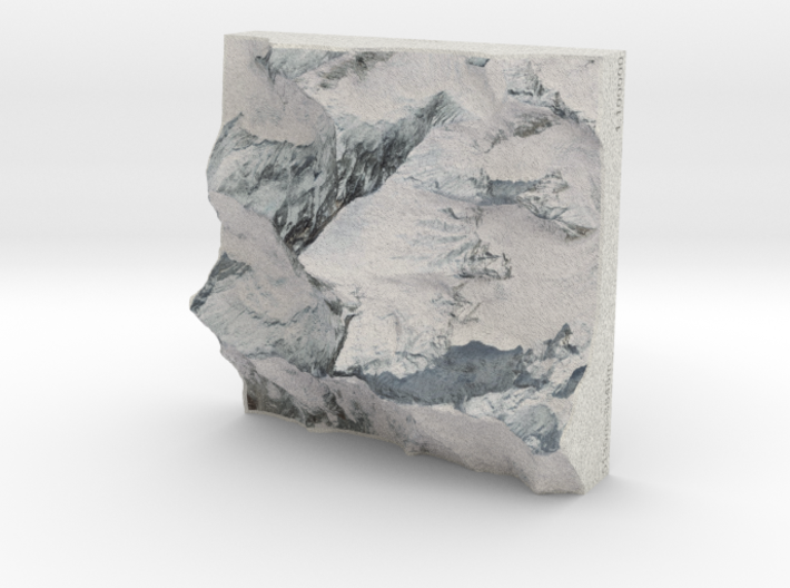 Mt. Everest, China/Nepal, 1:100000 3d printed