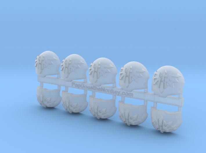 the Fallen = Terminator Left Shoulder x10 3d printed
