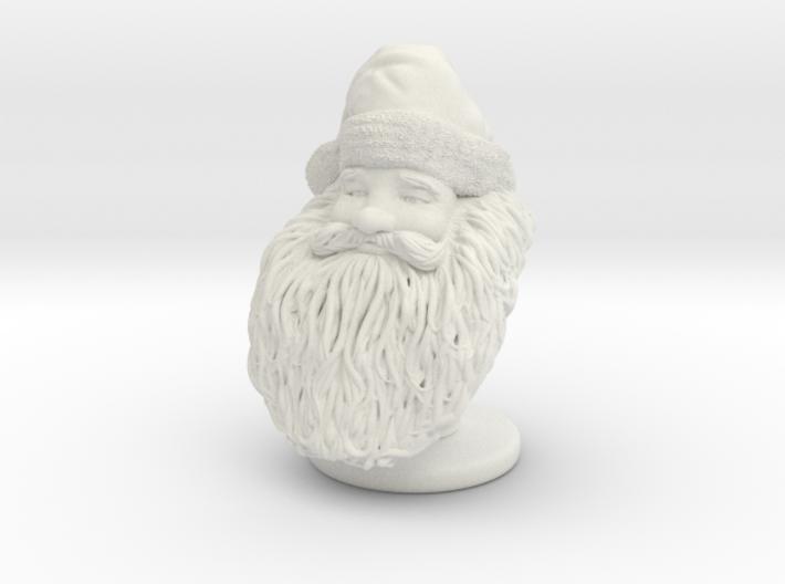Santa Claus Bust Sculpture 3d printed