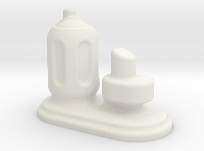 6mm Scale Small Chemical Stores 3d printed