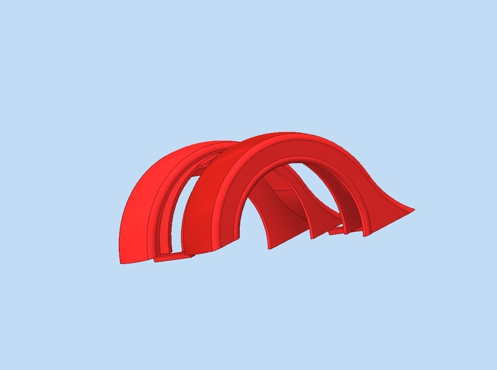 Revell Swept Front Fender Pair 3d printed Render using cad software.