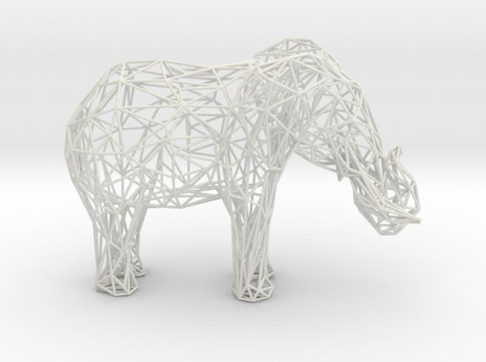 Wireframe Elephant XXL 3d printed