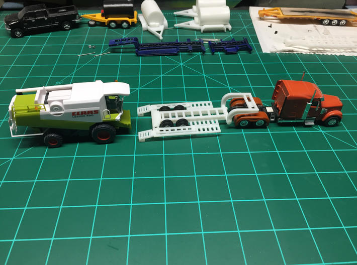 Revised HO Combine trailer Parts tree 3d printed