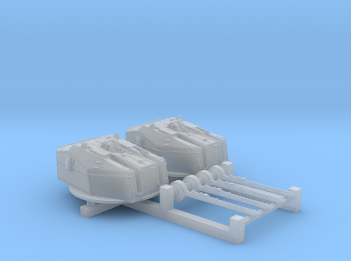 """1/700 HMS Tiger Class 6""""/50(15.2cm) QF MKN5 Gun x2 3d printed 1/700 HMS Tiger Class 6""""/50(15.2cm) QF MKN5 Guns x2"""