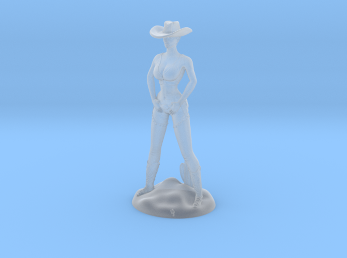 Cowgirl with Cactus (28mm Scale Miniature) 3d printed