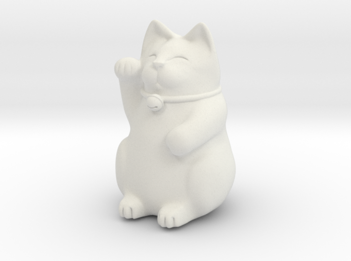 Maneki Neko Sculpture 3d printed