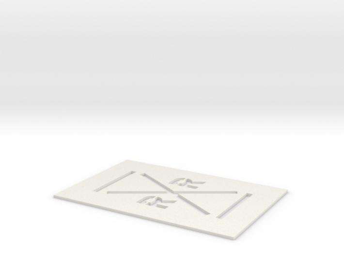 Railroad Crossing Template (HO) 3d printed Part # RR-001