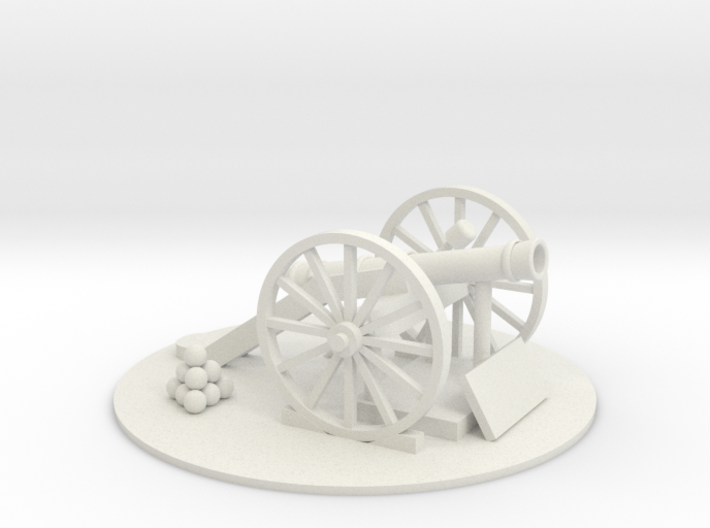 Cannon-3 (O) Scale 3d printed Part # CN-003