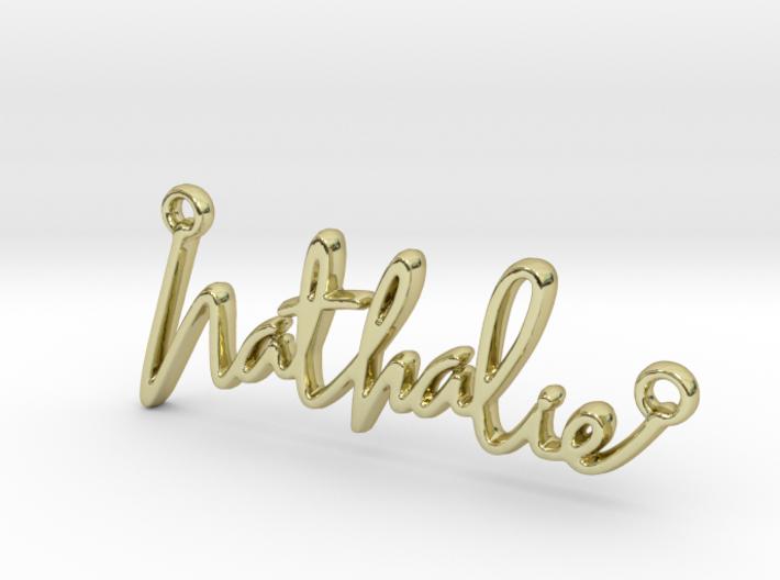 Nathalie Script First Name Pendant 3d printed